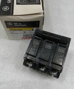 Thhqb32080 General Electric Circuit Breaker 3 Pole 80 Amp 240 Vac New