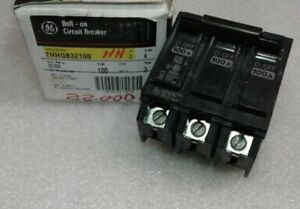 Thhqb32100 General Electric Circuit Breaker 3 Pole 100 Amp 240 Vac New