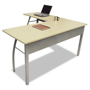 Reversible L shape Desk With Powder Coated Steel Frame And Laminate Top