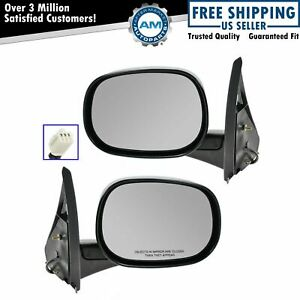 Power Side View Mirrors Left Right Pair Set For 98 03 Dodge Van
