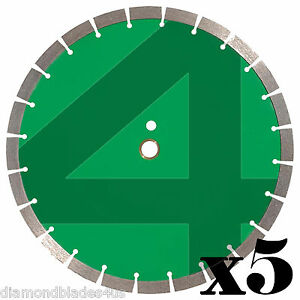 5 14 Diamond Saw Blade 4 Concrete Brick Block Stone Rock Masonry 15mm