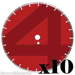 10 14 Diamond Saw Blades 4 Concrete Brick Block Stone Slate Pavers Masonry 8mm