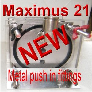 Hho Maximus 21 Plate Cell 3 8 Metal Push Fittings Hydrogen Generator Only