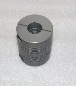 New Aluminum Flexible Coupling 2 5 Overall Length 3 4 Major 5 8 Minor Bore