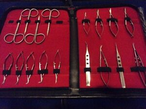 17 Pc O r Grade Micro Minor Eye Surgery Ophthalmic Delicate Scissors Set Kit
