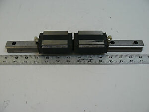 Lot Of 2 Thk Hsr25 Bearings With 13 1 2 Linear Rail