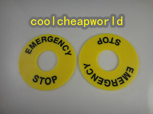 100x Pushbutton Switch Panel Label Frame emergency Stop Switch Plastic Sign 22mm