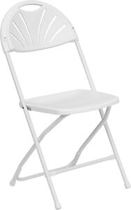 Lot Of 100 White Steel Frame Folding Chairs