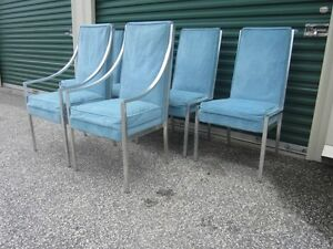 Set Of 6 Milo Baughman Solid Aluminum Mid Century Modern Ding Chairs 60 S 70 S