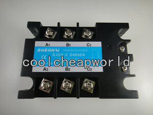 Three Phase 3phase Dc Ac Solid State Relay Ssr 60a 60a