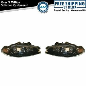 Headlights Headlamps Lh Left Rh Right Pair Set For 97 99 Mitsubishi Eclipse