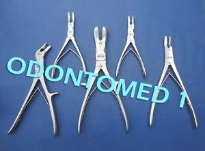 Set Of 5 Pcs Rongeurs Gouges Orthopedic Instruments