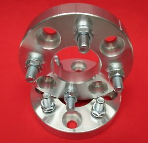 1 Wheels Spacers Fit Ford Mustang Capri 4x4 25 Machined 1 2x20 Studs And Nuts
