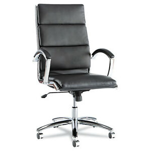Lot Of 10 High Back Black Leather Conference Room Table Chairs With Padded Arms