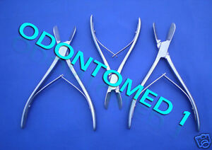 Set Of Assorted Liston Bone Cutters Orthopedic Instruments