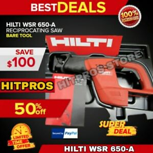Hilti Wsr 650 a 24v Reciprocating Saw Bare Tool Fast Shipping