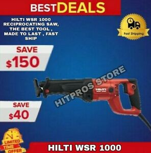 Hilti Reciprocating Saw havy Duty The Best Tool Made To Last Fast Ship
