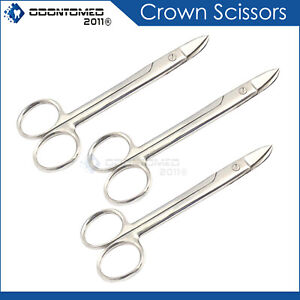 3 Crown Beebee Scissors Dental Surgical Instruments 4 25 Curved