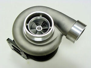 Huge Gt45 Turbo Turbocharger Compressor V Band 600hp Capable T4 Flange Universal