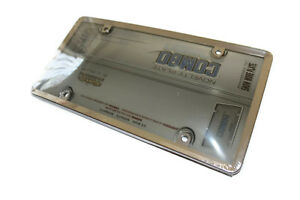 Smoked Bubble Cover With Chrome Chrome Plastic License Plate Protection Frame