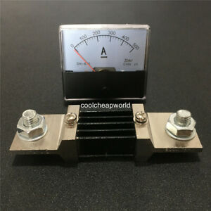 Analog Amp Panel Meter Current Ammeter Dc 0 500a 500a Dh670 With Fl 2 75mv Shunt