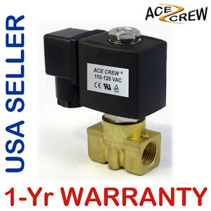 3 8 Inch 110v 120v Ac Brass Electric Solenoid Valve Npt Gas Water Air N c