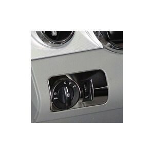 05 09 Mustang Billet Headlight Knob Bezel Polished Stainless Steel