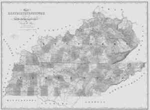 1839 Tn Map Coffee Crockett Cumberland Davidson County Tennessee History Huge