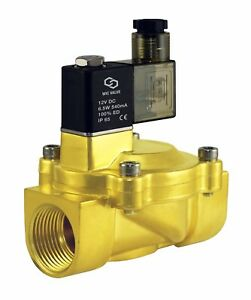 Low Power Consumption Electric Air Water Solenoid Valve Nc 12v Dc 1 One Inch