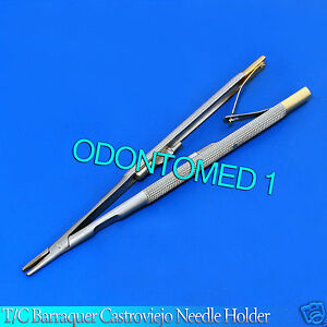 2 T c Castroviejo Barraquer Needle Holder 16 Cm Surgical Dental Instruments