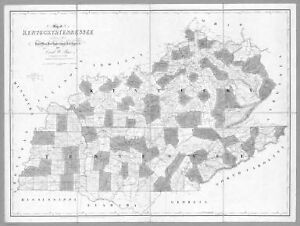 1839 Tn Map Mount Joliet Munford Murfreesboro Nashville Tennessee History Huge
