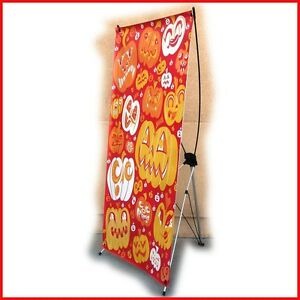 X Banner Stand W32 xh68 Free Printing Trade Show Display X220