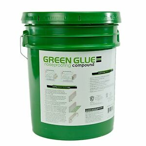 Green Glue Soundproofing Damping Compound 5 Gallon Pail Bucket