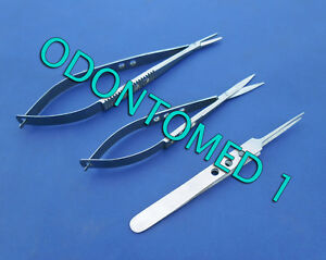 3 Pc O r Grade Castroviejo Micro Surgery Minor Surgical Ophthalmic Eye Kit Set