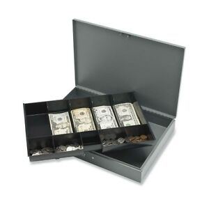 Havy Duty Cash Box With Key Lock And Removeble Tray 5 Bill 5 Coin Spr15500
