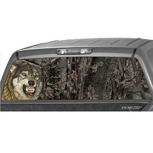 Wolf Hunting Tree Rear Window Graphic Print Tint Truck Suv Camouflage Sticker