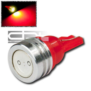 T10 194 168 W5w Bright 1smd 1w Red Led Interior Map Dome Trunk Wedge Light Bulb