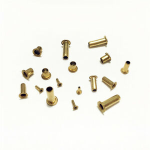 10000pcs M3 5x4mm Brass Eyelet Rivet Nut Through Hole Hollow Grommet