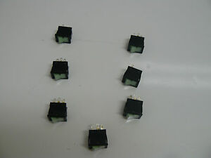 Lot Of 7 Nkk Cw sc Illum Rocker Switch 9a 125v Green