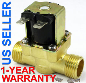 1 2 Inch 12v Dc Vdc Slim Brass Solenoid Valve Nps Gas Water Air Normally Closed