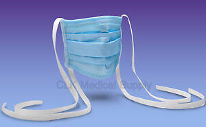 Max d Tie On Surgical Masks Blue 4 Ply 4 Folded 500pcs case Fda Astm Iii