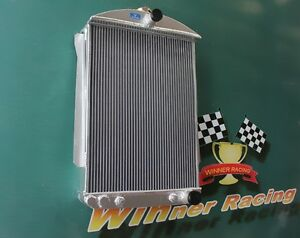 Fit Chevy Car Street Rod Auto 1940 1941 40 41 Aluminum Radiator 2 Row 56mm Core