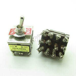 Heavy Duty Toggle Switch 4pdt 12 Screw Terminal On on 2 Position 12mm 15a 380v