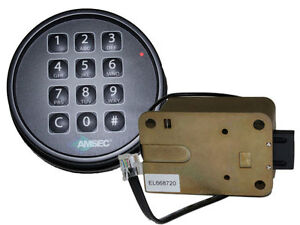Amsec Esl10xl Black Finish Digital Safe Lock Replace S g 6120 Lagard Basic Ii