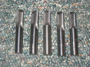 Lot 5 Diamond Cut 1 2 Cylindrical Carbide Router Burrs 3 Long Drill Point 500