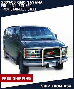 T H 1 Piece Brush Grille Guard For 2003 2008 Gmc Savana
