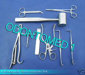 Set Of 12 Pieces Orthopedic Surgical Instruments