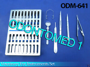 Standard Veterinary Eye Set Surgical Veterinary Instruments odm 641