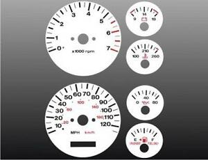 1996 1998 Jeep Grand Cherokee Dash Cluster White Face Gauges 96 98