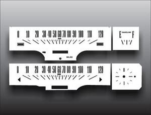1966 1967 Ford Fairlane Dash Cluster White Face Gauges 66 67
